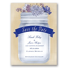 Vintage Canning Jar - Regency - Save the Date
