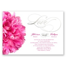 Posh Peonies Foil - Invitation