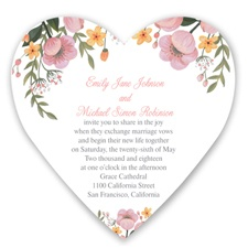 Sweetheart Floral - Coral Reef - Invitation