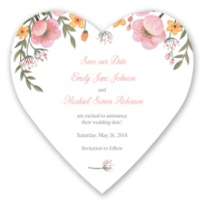 Sweetheart Floral - Coral Reef - Save the Date