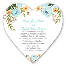 Sweetheart Floral - Pool - Invitation