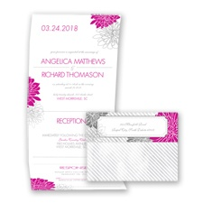 Exceptional Floral - Begonia - Seal and Send Invitation