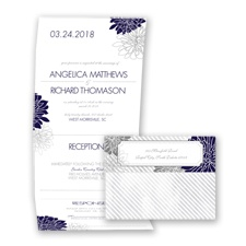 Exceptional Floral - Lapis - Seal and Send Invitation