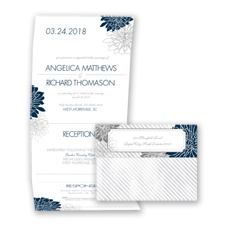 Exceptional Floral - Peacock - Seal and Send Invitation