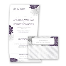 Exceptional Floral - Plum - Seal and Send Invitation