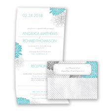 Exceptional Floral - Pool - Seal and Send Invitation