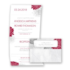 Exceptional Floral - Apple - Seal and Send Invitation