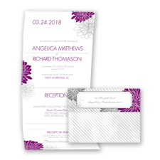 Exceptional Floral - Sangria - Seal and Send Invitation
