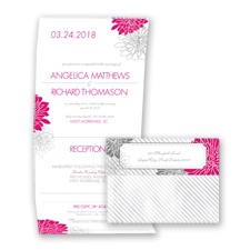 Exceptional Floral - Watermelon - Seal and Send Invitation