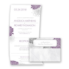Exceptional Floral - Wisteria - Seal and Send Invitation