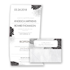 Exceptional Floral - Black - Seal and Send Invitation