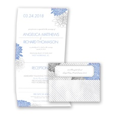 Exceptional Floral - Bluebird - Seal and Send Invitation