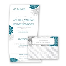 Exceptional Floral - Oasis - Seal and Send Invitation