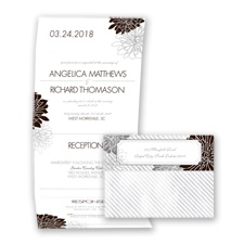 Exceptional Floral - Chocolate - Seal and Send Invitation