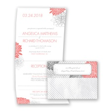 Exceptional Floral - Coral Reef - Seal and Send Invitation