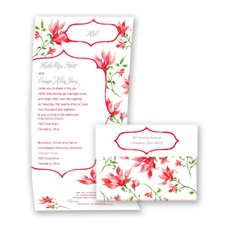 Romantic Wildflowers - Apple - Seal and Send Invitation