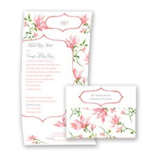 Romantic Wildflowers - Coral Reef - Seal and Send Invitation