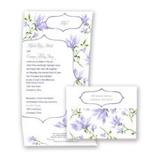 Romantic Wildflowers - Lapis - Seal and Send Invitation