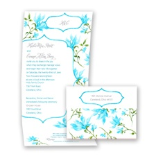 Romantic Wildflowers - Malibu - Seal and Send Invitation