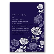 Bright Floral Foil - Invitation
