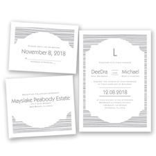 Stylish Striae - Mercury - Invitation Bundles