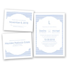 Stylish Striae - Bluebird - Invitation Bundles