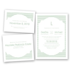 Stylish Striae - Meadow - Invitation Bundles