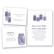 Lovely Canning Jars - Lapis - Invitation Bundles