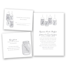 Lovely Canning Jars - Mercury - Invitation Bundles