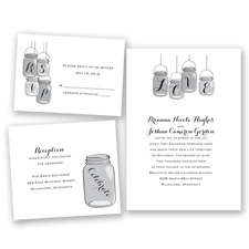 Lovely Canning Jars - Black - Invitation Bundles