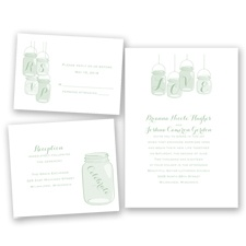 Lovely Canning Jars - Meadow - Invitation Bundles
