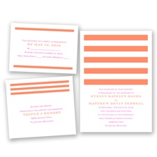 Stripe Appeal - Neon Grapefruit - Invitation Bundles
