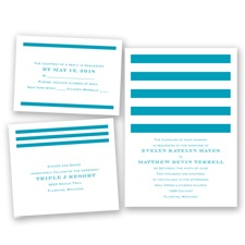 Stripe Appeal - Malibu - Invitation Bundles