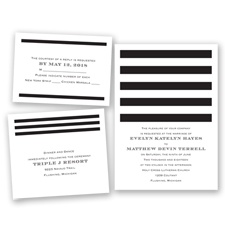 Stripe Appeal - Black - Invitation Bundles