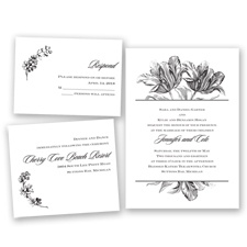Tulip Romance - Black - Invitation Bundles