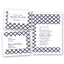 Quatrefoil Lattice - Lapis - Invitation Bundles