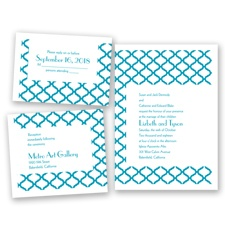 Quatrefoil Lattice - Malibu - Invitation Bundles
