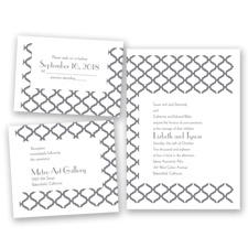 Quatrefoil Lattice - Mercury - Invitation Bundles