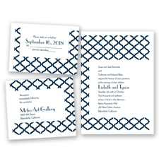 Quatrefoil Lattice - Peacock - Invitation Bundles