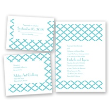 Quatrefoil Lattice - Pool - Invitation Bundles