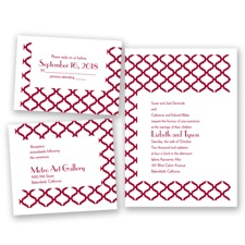 Quatrefoil Lattice - Apple - Invitation Bundles