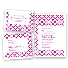 Quatrefoil Lattice - Begonia - Invitation Bundles