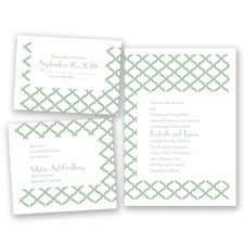 Quatrefoil Lattice - Meadow - Invitation Bundles