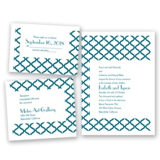 Quatrefoil Lattice - Oasis - Invitation Bundles