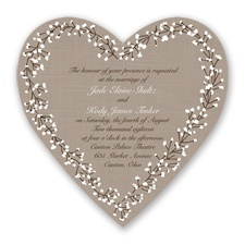 Hearts in Harmony - Chocolate - Invitation