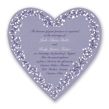 Hearts in Harmony - Lapis - Invitation