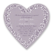 Hearts in Harmony - Plum - Invitation