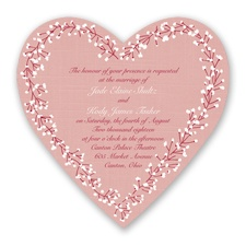 Hearts in Harmony - Apple - Invitation