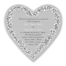 Hearts in Harmony - Black - Invitation
