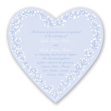 Hearts in Harmony - Bluebird - Invitation